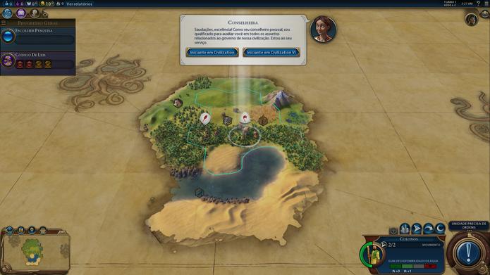 Civilization VI é familiar para fãs da série e didático com novatos (Foto: Reprodução / Caio Fagundes)