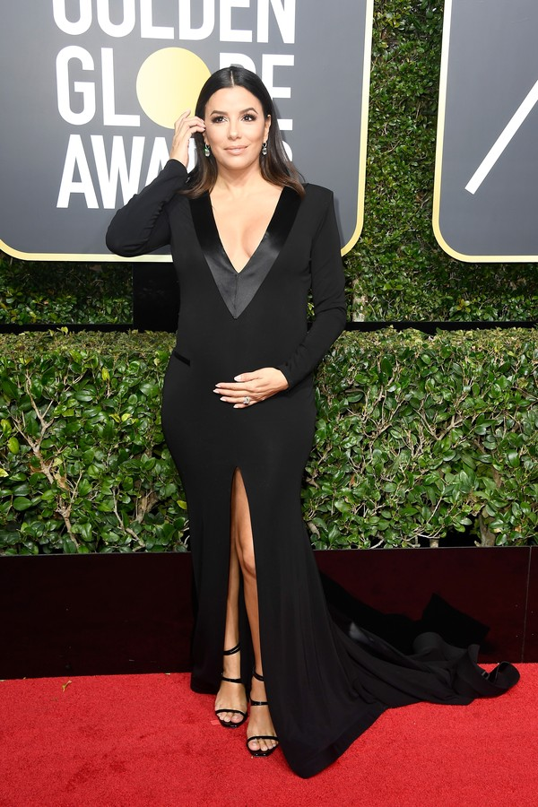 BEVERLY HILLS, CA - JANUARY 07: Actor Eva Longoria attends The 75th Annual Golden Globe Awards at The Beverly Hilton Hotel on January 7, 2018 in Beverly Hills, California. (Photo by Frazer Harrison/Getty Images) (Foto: Getty Images)
