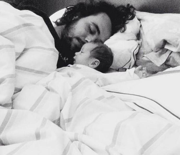 Bruno com o filho Antônio (Foto: Arquivo Pessoal)