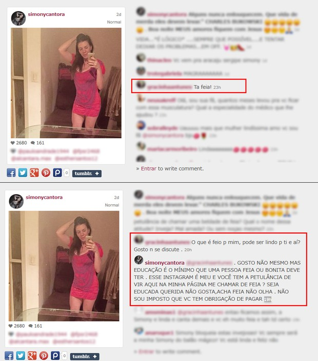 Simony é criticada por seguidora (Foto: Instagram / Reprodução)