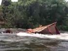 Bombeiros buscam desaparecidos em rio após colisão na GO-184