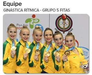 Arte - O peso do Ouro - ginástica rítmica (Foto: globoesporte.com)