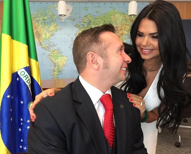 Milena e Alessandro Teixeira (Foto: Divulgação / MF Models Assessoria )