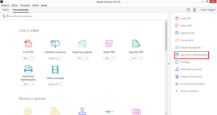Programa da Adobe pode converter texto de imagens em PDF (Foto: Reprodução/Acrobat)