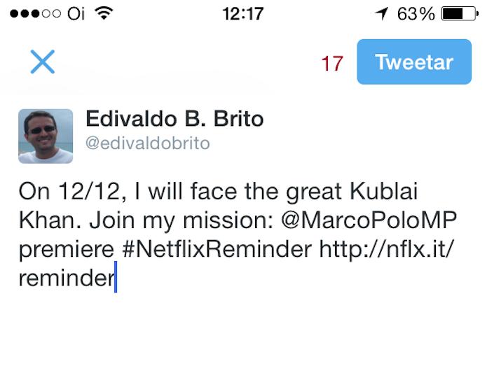 """Mensagem criada ao ativar a opção """"Tweet Me a Reminder"""" (Foto: Reprodução/Edivaldo Brito)"""