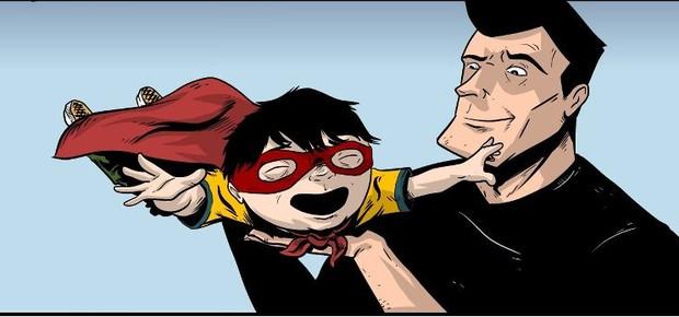 Ollie na versão super-herói dos quadrinhos (Foto: Reprodução/Facebook)