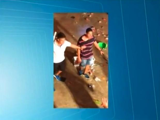 PM é investigado por ameaçar foliões em prévia de carnaval na capital (Foto: Reprodução/TV Clube)