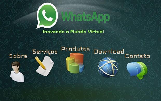 Página distribui versão falsa do WhatsApp para computadores (Foto: Reprodução/Kaspersky Lab)