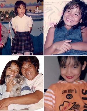 Carol Nakamura na época da sua infância (Foto: Arquivo Pessoal)