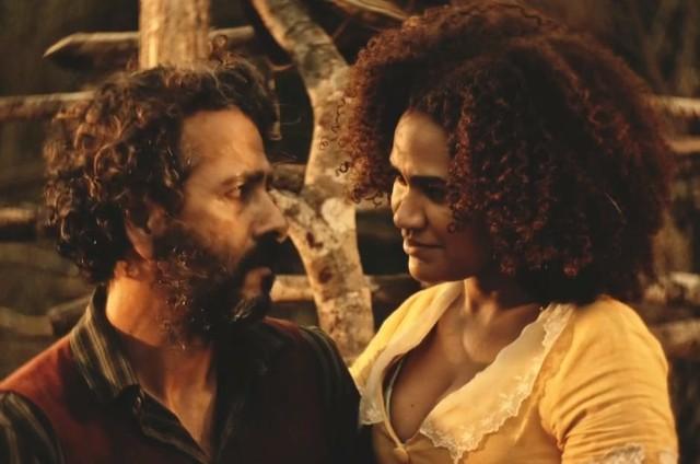 Marcos Palmeira e Mariene de Castro em 'Velho Chico' (Foto: Reprodução)