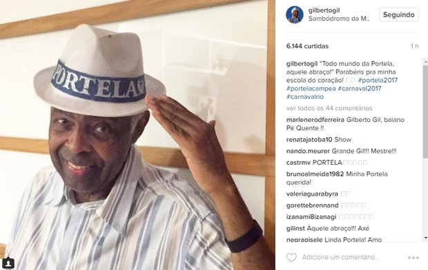 Gilberto Gil (Foto: Reprodução / Instagram)