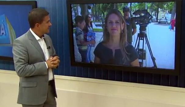 TV digital Praça Rui Barbosa (Foto: Reprodução/RPC)