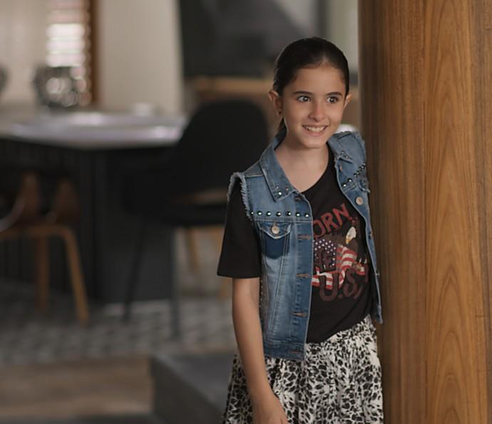 Chiara aparece de surpresa e escuta nome verdadeiro de Júlia (Foto: TV Globo)