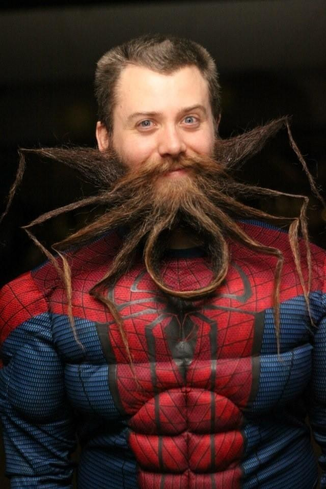 Americano Chad Roberts exibe barba inspirada no herói Homem-Aranha (Foto: Reprodução/Twitter/Chad Roberts)
