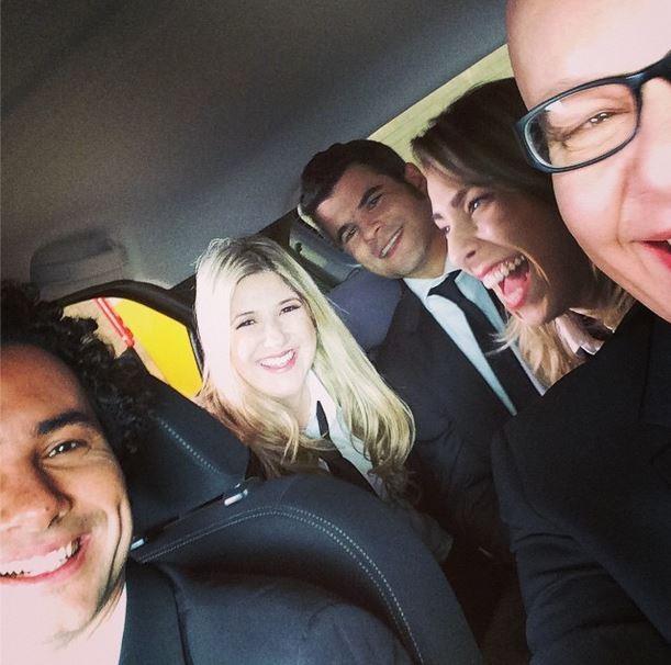Dani Calabresa com a equipe do CQC (Foto: Reprodução/Instagram)