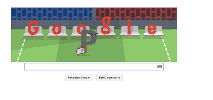 Doodle do Google para a partida Uruguai x Costa Rica (Foto: Reprodução/ Google)