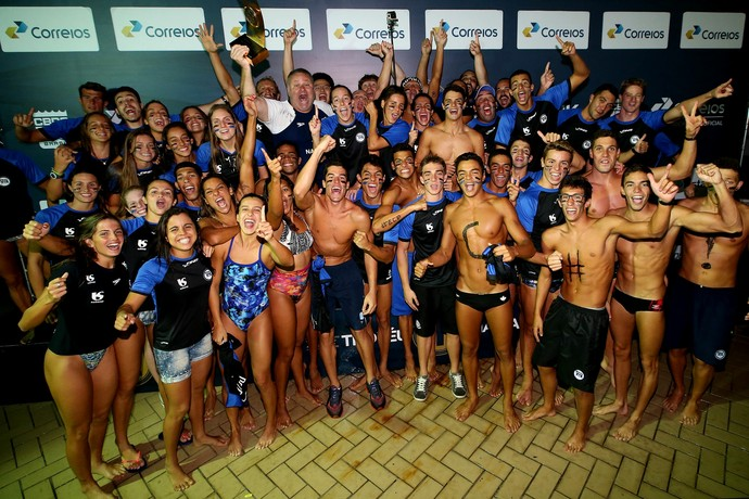 Pinheiros, natação, campeão Maria Lenk (Foto: Satiro Sodré/ SSPress)