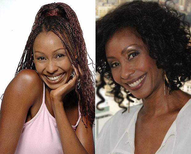 Corana em duas versões: à esquerda com visual anos 90 e à direita atualmente (Foto: TV Globo)