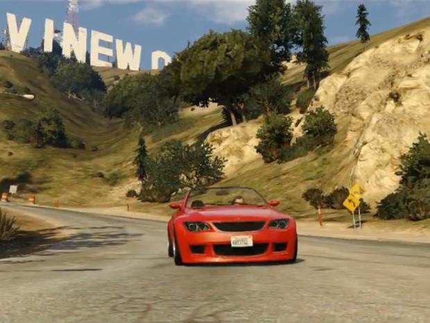 Jogador poderá dirigir carrões pelas ruas de Los Santos em 'GTA V' (Foto: Divulgação/Rockstar)