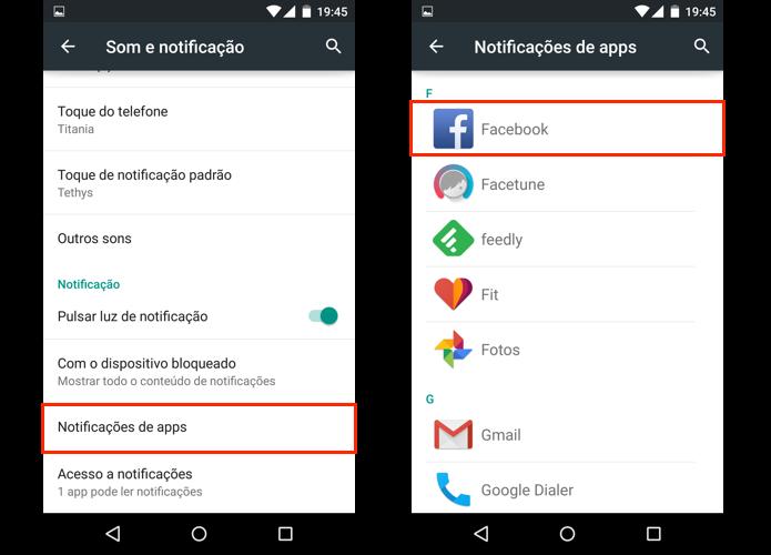 Escolha um app para editar sua notificação (Foto: Reprodução/Paulo Alves)
