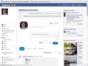 perfil no hallbook permite copartilhar fotos, vídeos e músicas (Foto: Júnior Hallack/Divulgação)