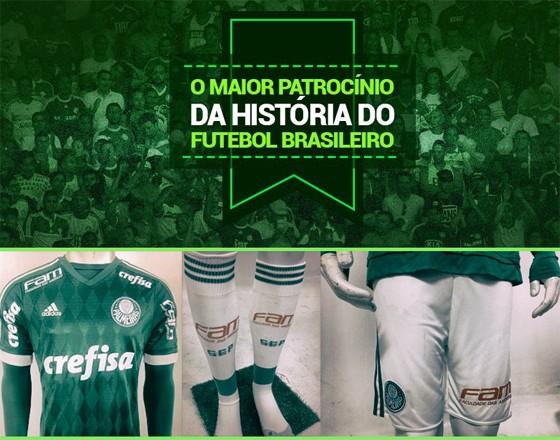 """Crefisa e FAM anunciam """"maior patrocínio da história do futebol brasileiro"""" ao Palmeiras (Foto: Reprodução / Twitter)"""