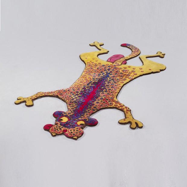 Cheetah Hayworth, de lã, produzido na India, design The Haas Brothers, da R and Company (Foto: Divulgação)