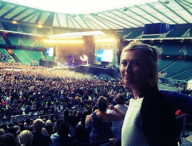 Sharapova show Rihanna Londres (Foto: Reprodução/Twitter)