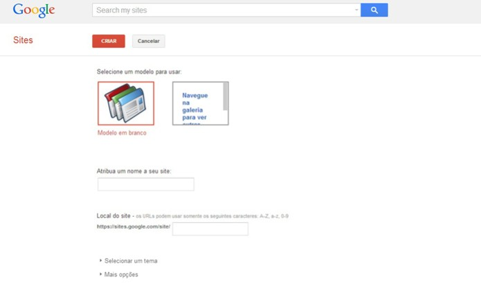Google Sites (Foto: Reprodução/Barbara Mannara)