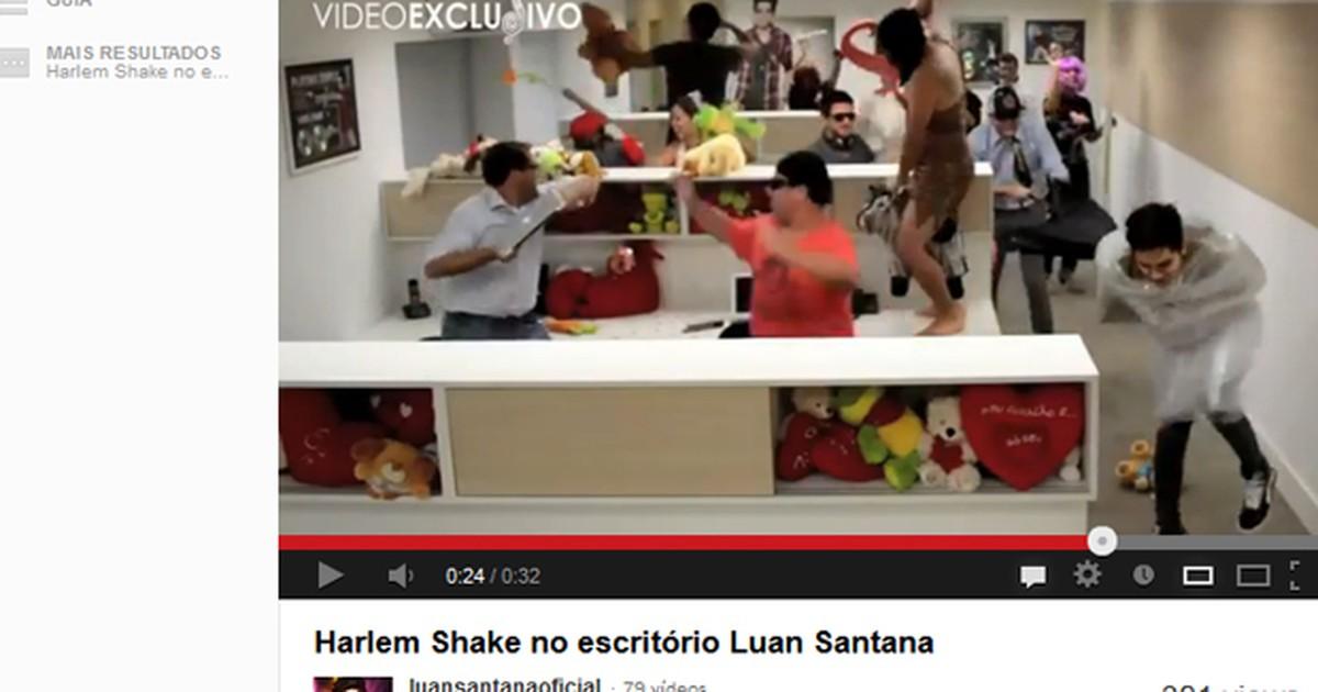 Luan Santana dança ao som de 'Harlem Shake'; veja vídeo