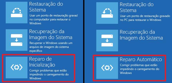 Selecionando a opção que fará o reparo do Windows 8 (Foto: Reprodução/Edivaldo Brito)