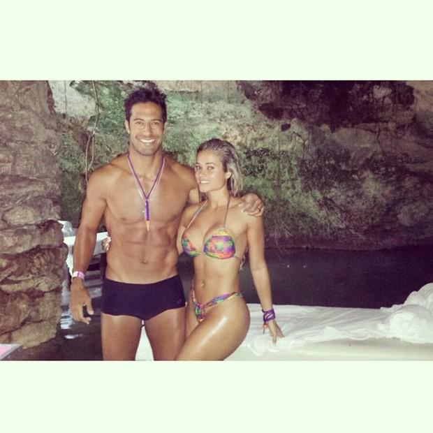 Beto Malfacini e Aryane em lua de mel (Foto: reprodução/instagram)