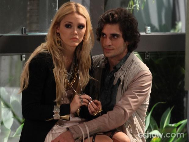 Na trama, eles foram o casal Megan e Alex (Foto: Pedro Curi/TV Globo)