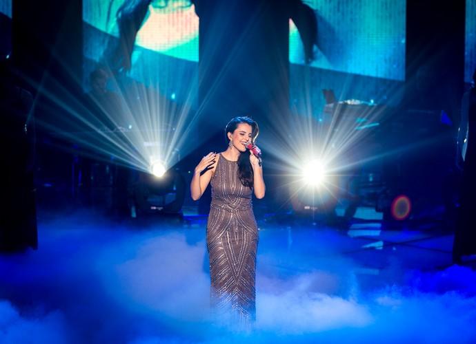 Allice lacradora cantando Adele nos Shows Ao Vivo (Foto: Isabella Pinheiro/Gshow)