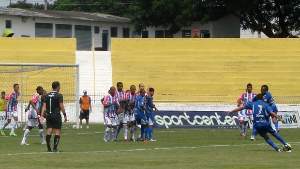 Partida entre São José e Penapolense, pelo Campeonato Paulista da Série A2 de 2012, no estádio Martins Pereira (Foto: Danilo Sardinha/Globoesporte.com)