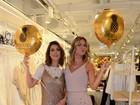 Fernanda Paes Leme e Giovanna Ewbank vão a lançamento de grife