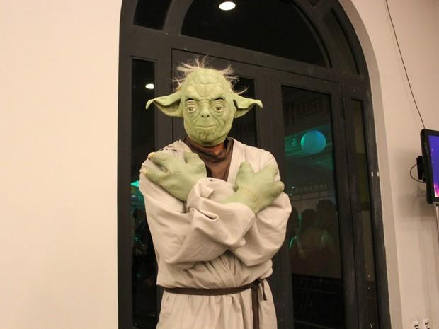 Mestre Yoda chamou atenção no Manaus Fantasy 2013 (Foto: Marcos Dantas/G1 AM)