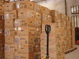 TRE inicia distribuição de urnas eletrônicas (Foto: TRE-CE/Divulgação)