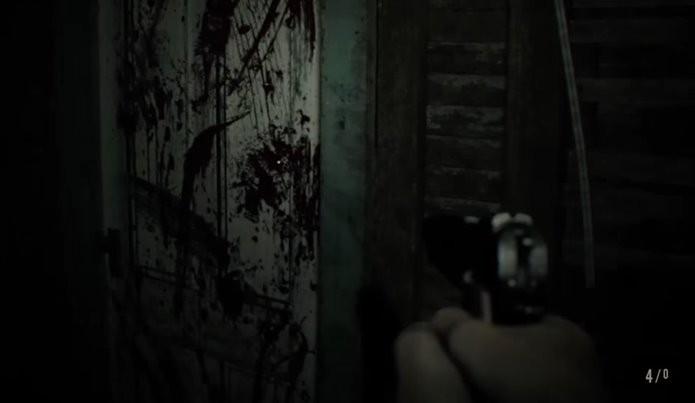 Portas trancadas também são abertas como parte do segredo da demo de Resident Evil 7 (Foto: Reprodução/Felipe Demartini)