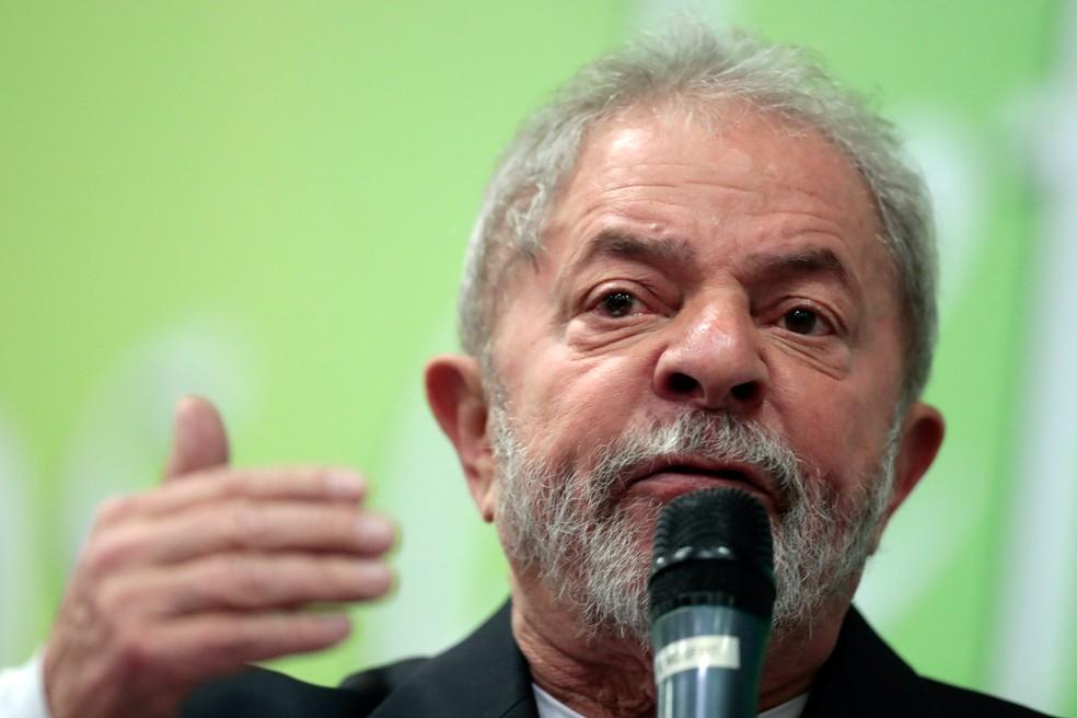Luiz Inácio Lula da Silva, ex-presidente da República, responde a dois processos da Lava Jato em Curitiba (Foto: Leonardo Benassatto/Estadão Conteúdo)