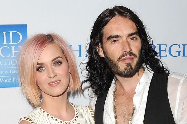 Em 2013 Katy Perry contou que falava com seu ex-marido Russell Brand desde dezembro de 2011, quando ele mandou uma mensagem de texto dizendo que ia se divorciar dela (Foto: Getty Images)
