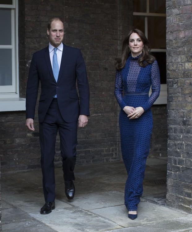 Príncipe William e Kate Middleton em evento no Kensington Palace, em Londres (Foto: AFP)