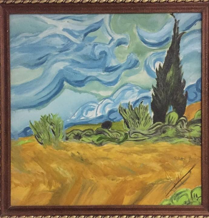 Lucas Veloso pinta quadros desde criança (Foto: Arquivo Pesoal)