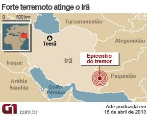 vale este mapa irã (Foto: Arte/G1)