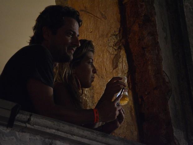 Marcelo Serrado e a mulher, Roberta, em show em Salvador, na Bahia (Foto: Felipe Souto Maior/ Ag. News)