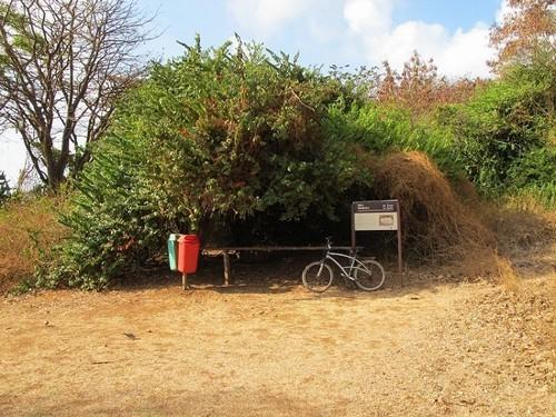 Foto (Foto: Trilha improvisada. Após a pedalada, é preciso seguir a trilha a pé Foto: Victor Costa)