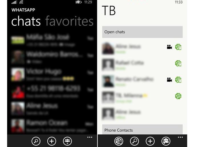 Confira a diferença visual entre os apps (Foto: Reprodução/Thiago Barros)