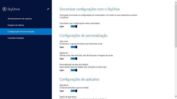 Sincronize o SkyDrive para passar arquivos (Foto: Thiago Barros/Reprodução)