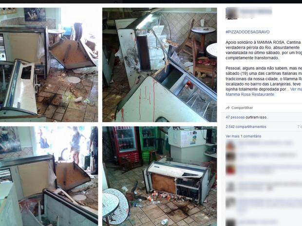 Mensagem postada no Facebook pede apoio ao Mamma Rosa (Foto: Reprodução / Facebook)