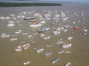 Círio de Nazaré Belém romaria fluvial (Foto: Raimundo Paccó/Frame/Frame/Estadão Conteúdo)